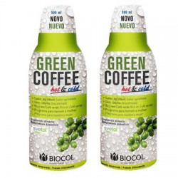 Pack 2 Green Coffee Hot & Cold 500Ml. Biocol