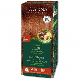 COLORANTE VEGETAL 040 COBRE INTENSO HENNA BIO 2x50Gr. LOGONA